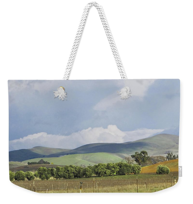 Landscape Weekender Tote Bag featuring the photograph Spring In Livermore by Karen W Meyer