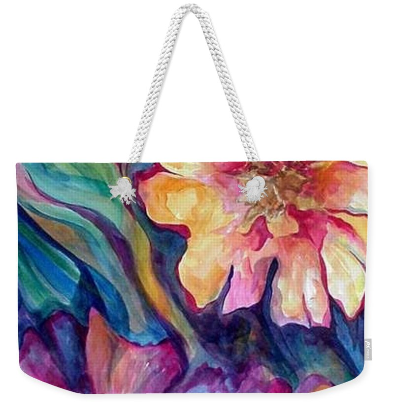 Spring Weekender Tote Bag featuring the painting Spring In My heart by Carolyn LeGrand