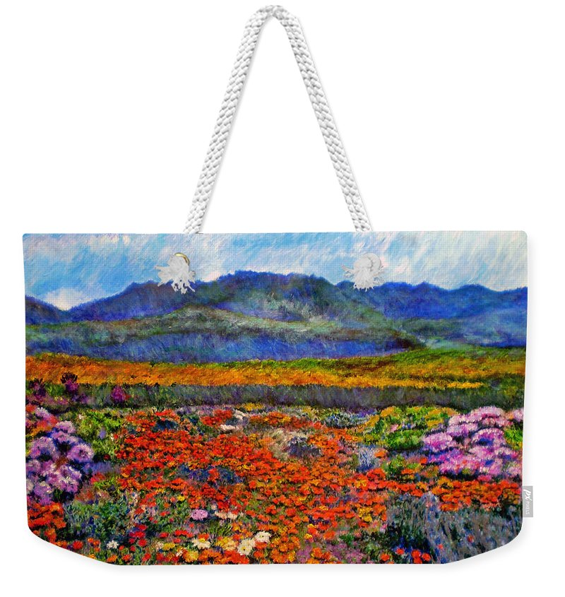 Spring Weekender Tote Bag featuring the painting Spring In Namaqualand by Michael Durst