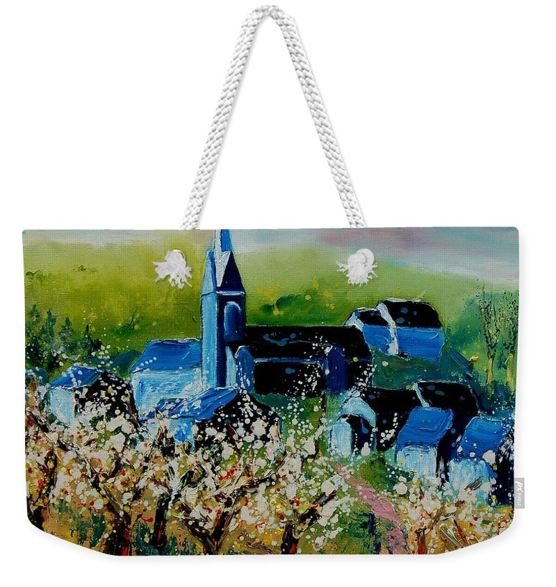 Spring Weekender Tote Bag featuring the painting Spring In Redu by Pol Ledent