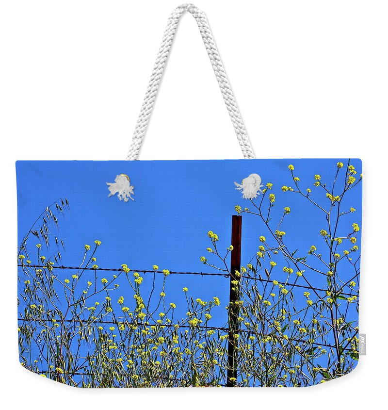 Flowers Weekender Tote Bag featuring the photograph Spring In The Country by Diana Hatcher