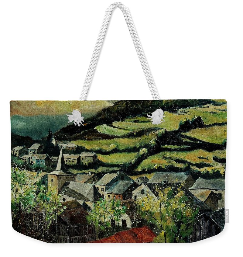 Spring Weekender Tote Bag featuring the painting Spring In Vresse Ardennes Belgium by Pol Ledent