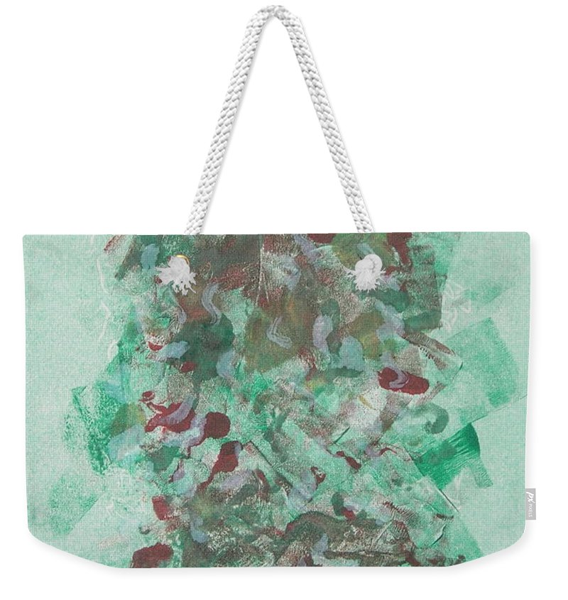 Monoprint Weekender Tote Bag featuring the mixed media Spring Interlude by Cori Solomon