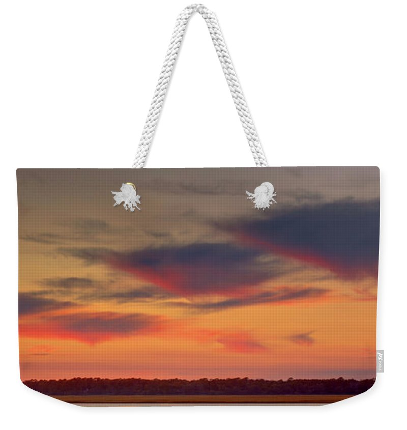 Canvas Weekender Tote Bag featuring the photograph Spring Island Sc by Phill Doherty