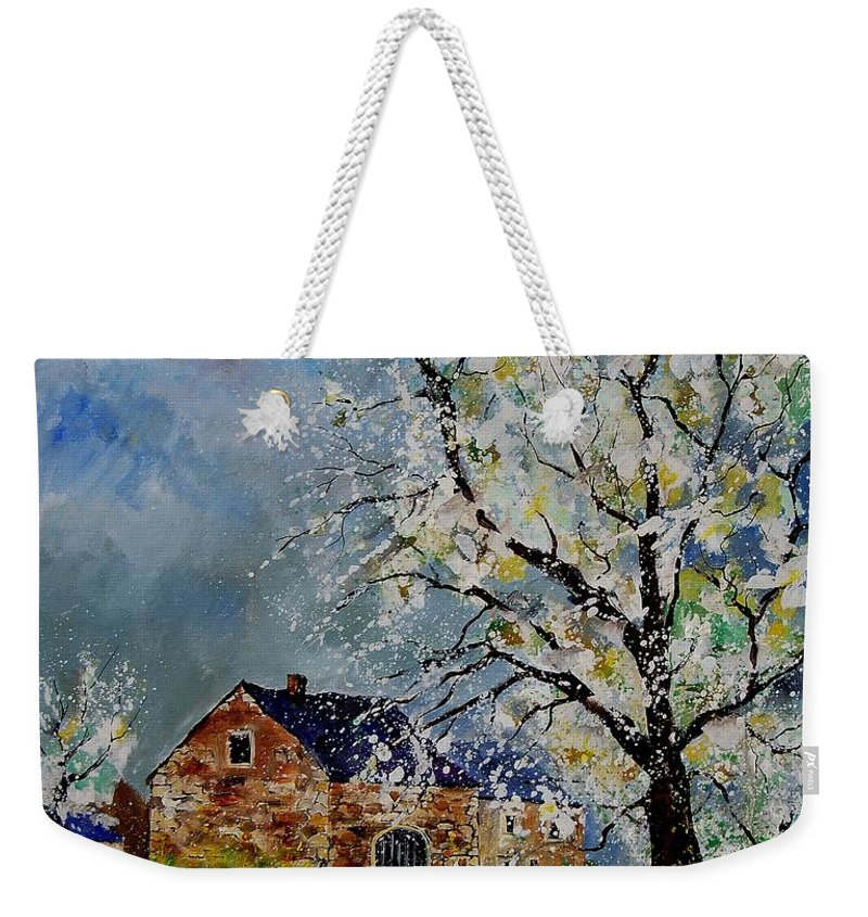 Spring Weekender Tote Bag featuring the painting Spring Landscape by Pol Ledent