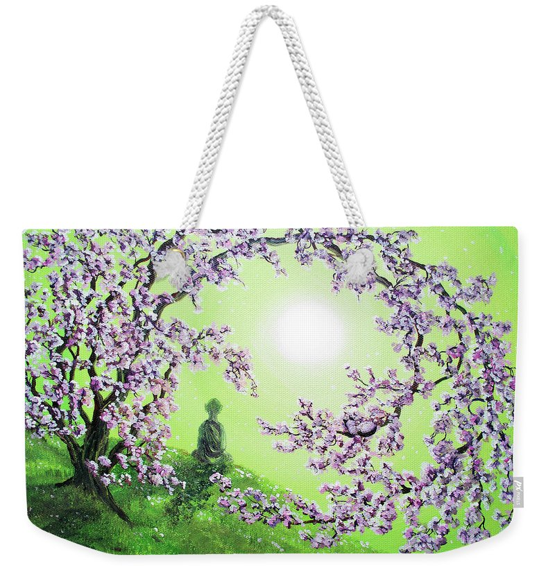 Painting Weekender Tote Bag featuring the painting Spring Morning Meditation by Laura Iverson
