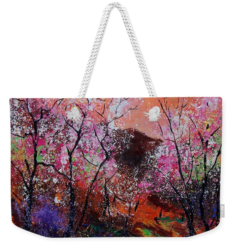 Spring Weekender Tote Bag featuring the painting Spring Near My Home by Pol Ledent