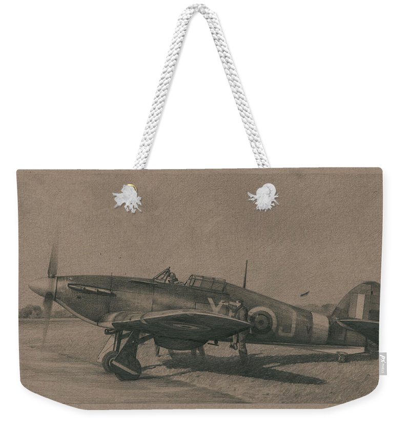 Eagle Squadron Weekender Tote Bag featuring the drawing Spring Of 41 by Wade Meyers