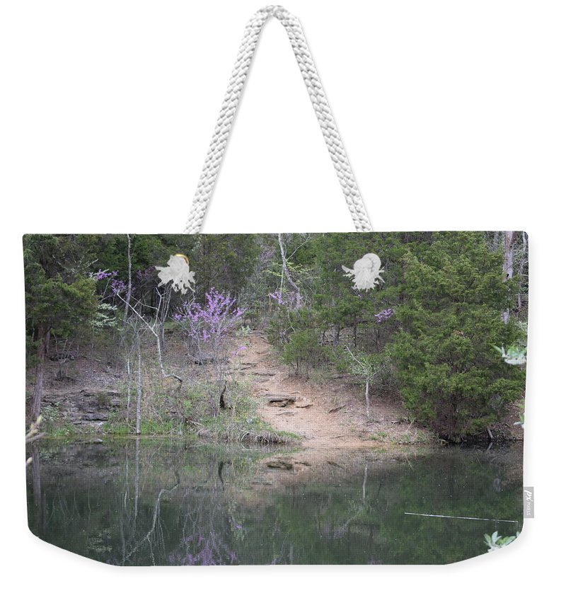 Beautiful Weekender Tote Bag featuring the photograph Spring Pond by Kayla Chapel
