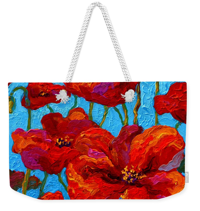 Poppies Weekender Tote Bag featuring the painting Spring Poppies by Marion Rose
