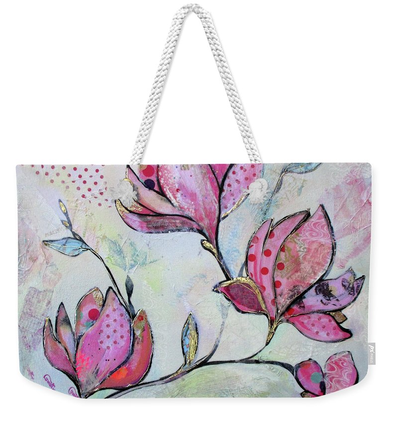 Pink Weekender Tote Bag featuring the painting Spring Reverie I by Shadia Derbyshire