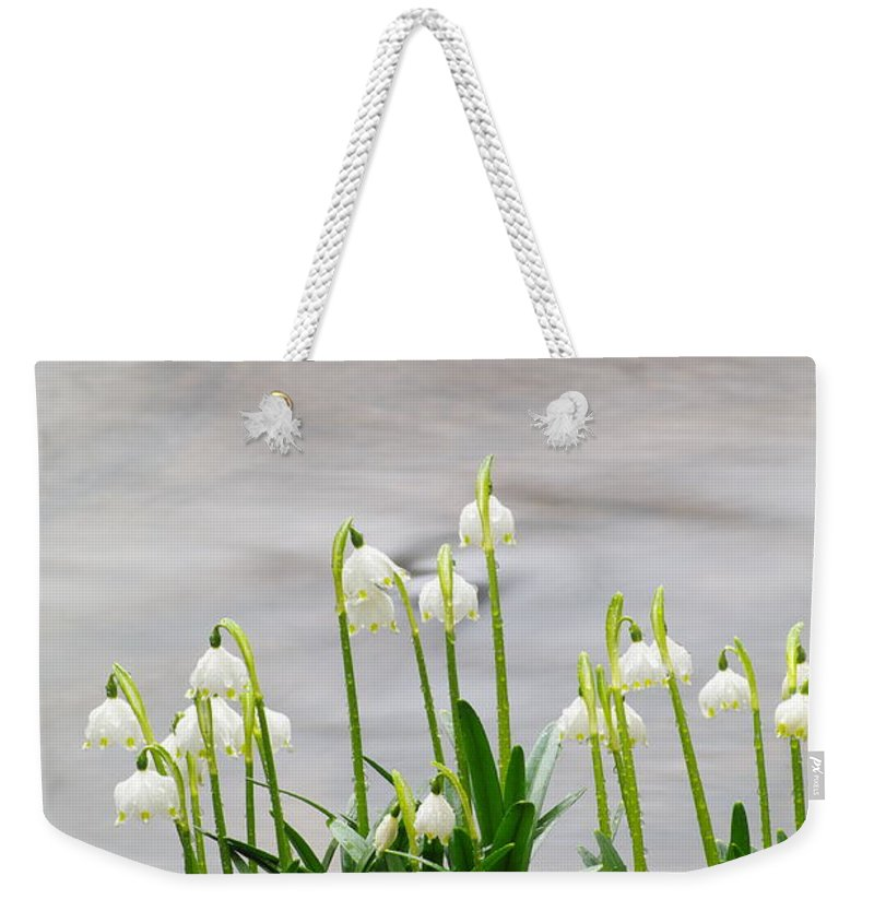 Spring Snowflake Weekender Tote Bag featuring the photograph Spring Snowflake by Otto Hauck