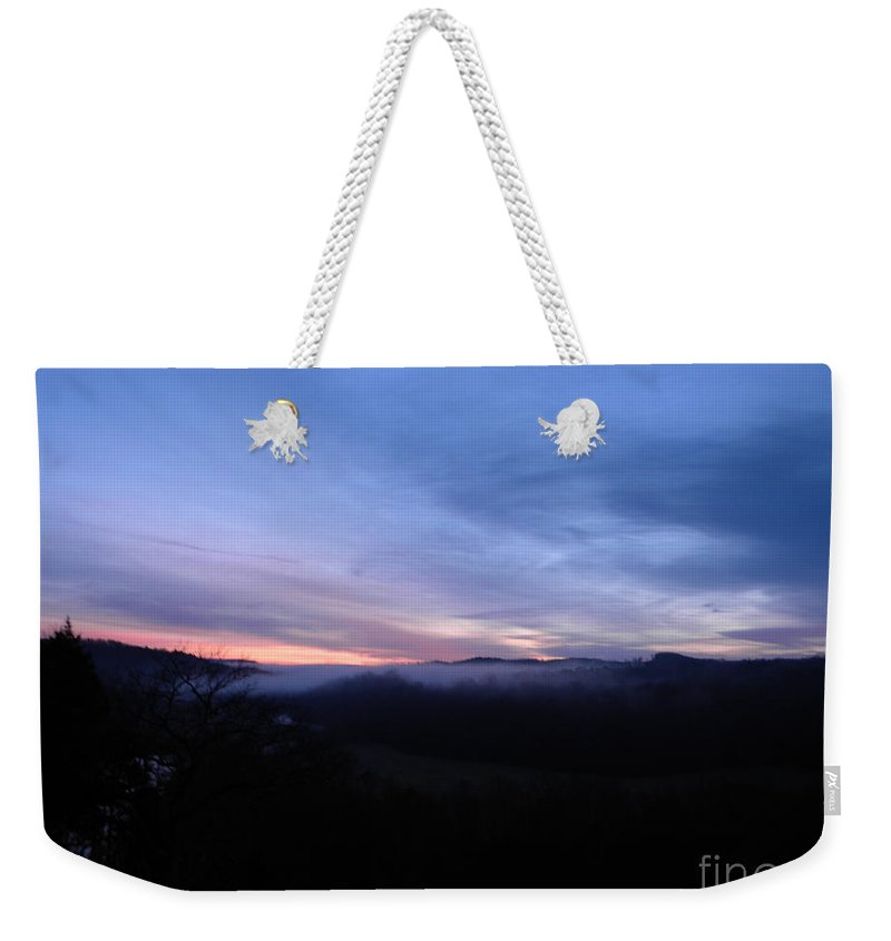 Jasper Weekender Tote Bag featuring the photograph Spring Sunrise In Jasper by Nathanael Smith