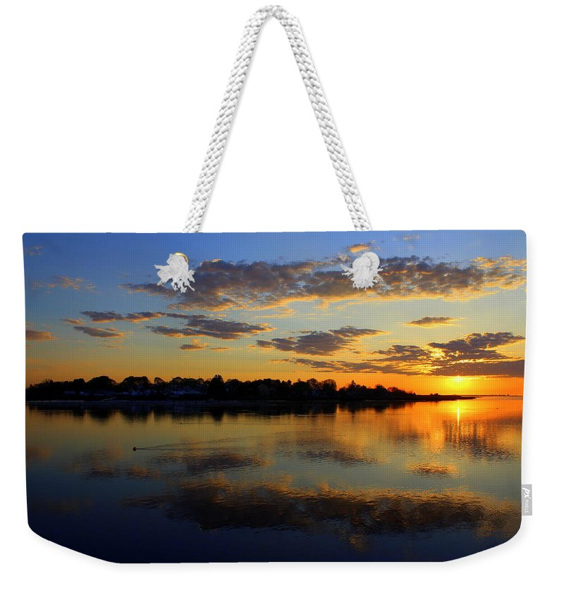 Sunrise Weekender Tote Bag featuring the photograph Spring Sunrise by Suzanne DeGeorge
