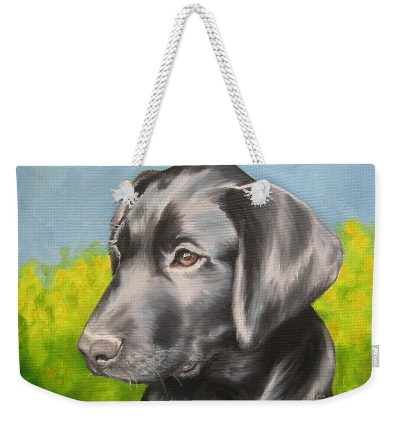 Noewi Weekender Tote Bag featuring the painting Spring Time by Jindra Noewi