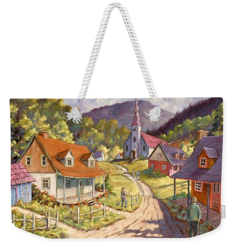 Art Weekender Tote Bag featuring the painting Spring Time Sun by Richard T Pranke
