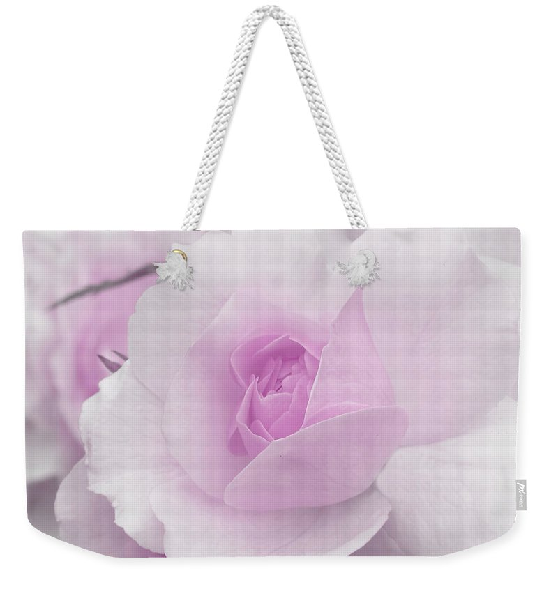 Lilac Weekender Tote Bag featuring the photograph Spring Time With Lavender Rose by Lena Photo Art