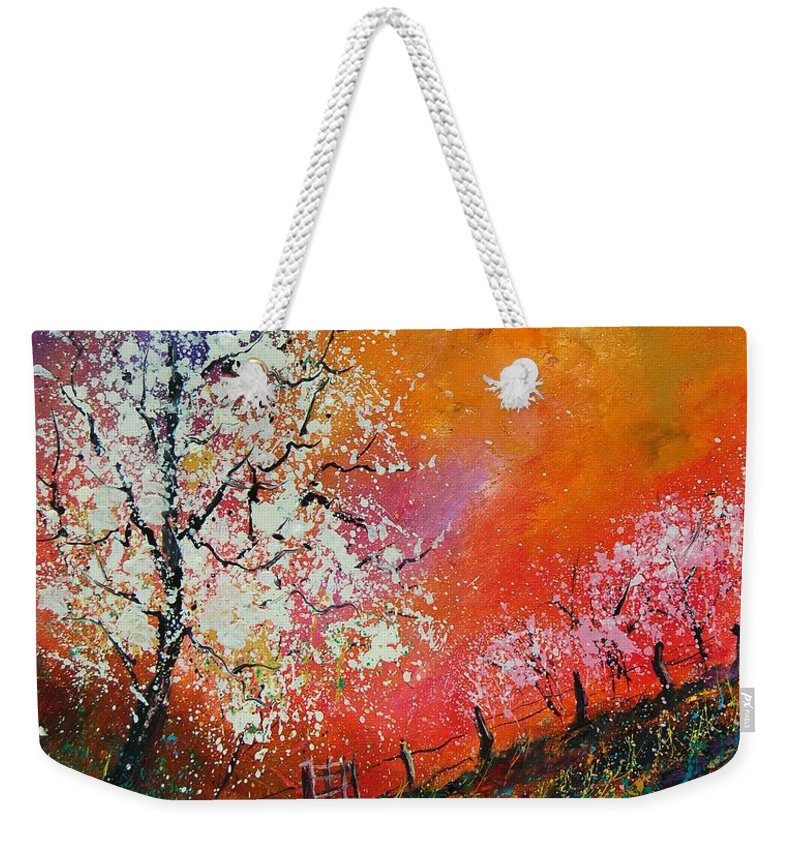 Spring Weekender Tote Bag featuring the painting Spring Today by Pol Ledent