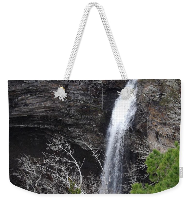 Petite Jean Weekender Tote Bag featuring the photograph Spring Waterfall At Petit Jean by Nathanael Smith