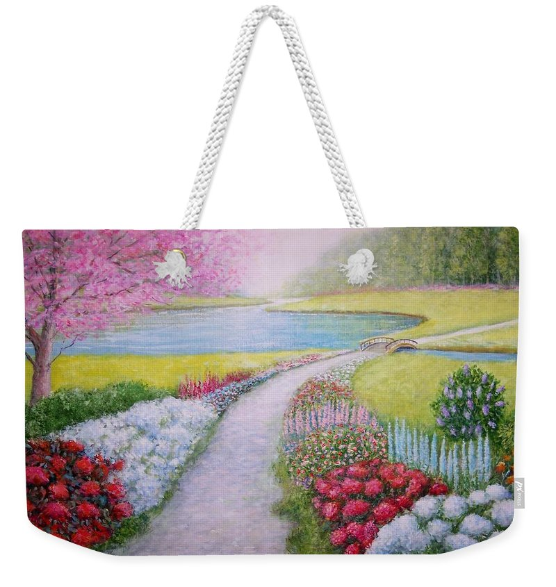 Landscape Weekender Tote Bag featuring the painting Spring by William H RaVell III