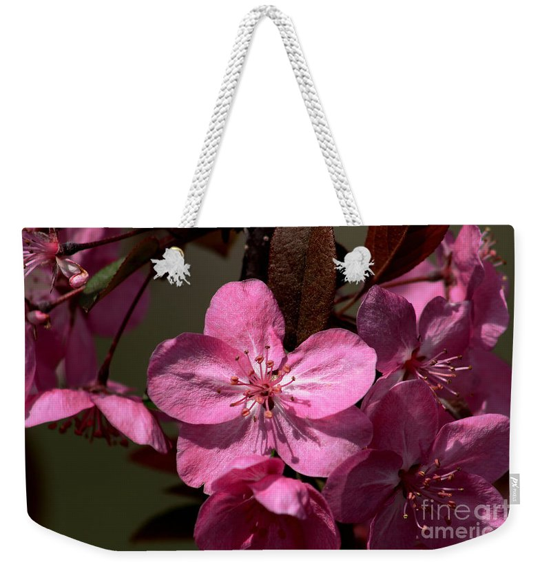 Flower Weekender Tote Bag featuring the photograph Springs Bloom by Roger Becker