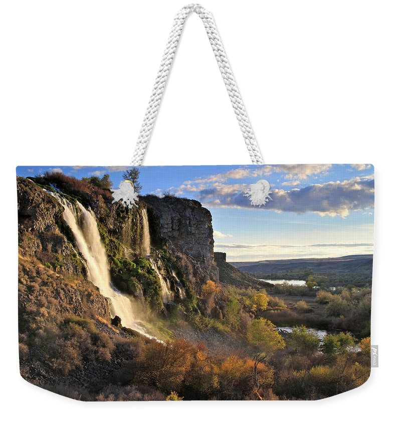 Sunset Weekender Tote Bag featuring the photograph Springs Of Thousands by Ed Riche