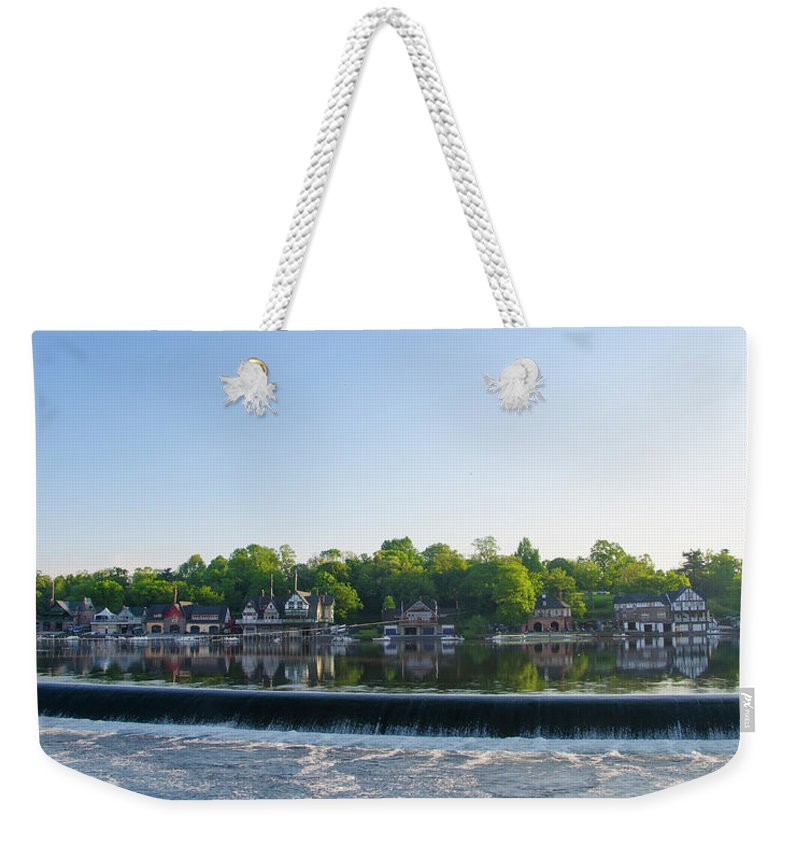 Springtime Weekender Tote Bag featuring the photograph Springtime At Boathouse Row In Philadelphia by Bill Cannon