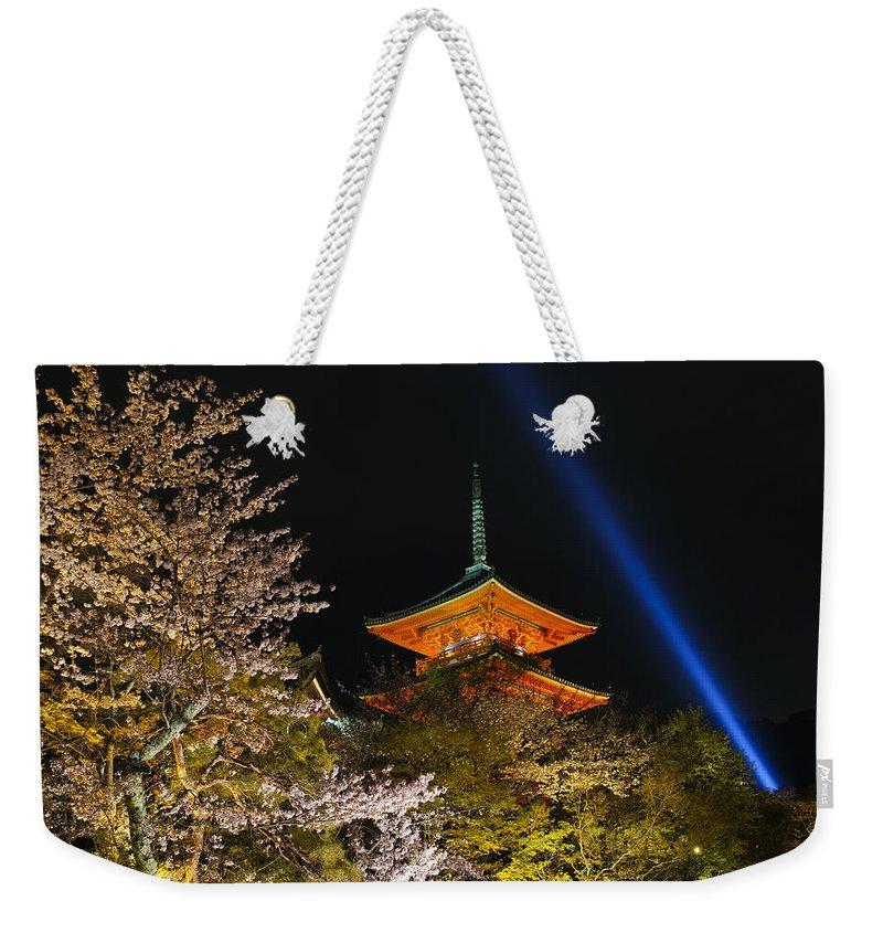 Kiyomizu-dera Weekender Tote Bag featuring the photograph Springtime At Kiyomizu-dera by Brian Kamprath