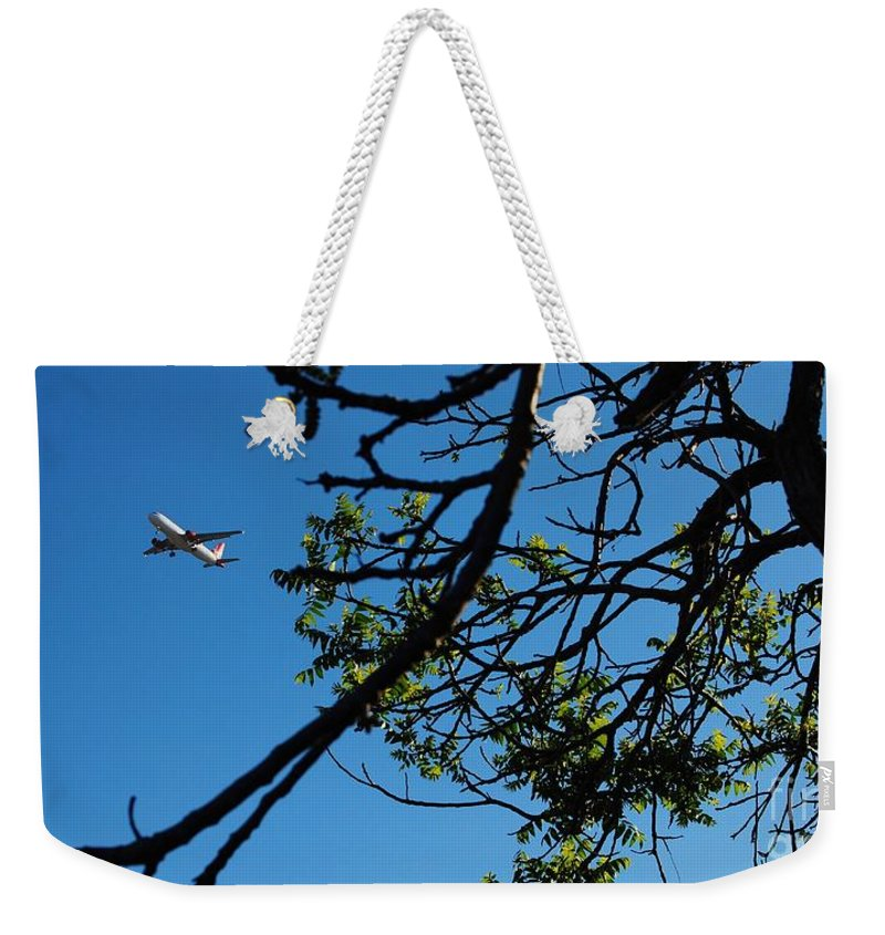 Airplanes Weekender Tote Bag featuring the photograph Springtime In The City by Angela J Wright