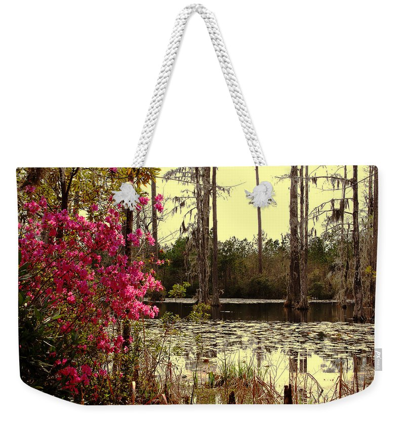 Springtime Weekender Tote Bag featuring the photograph Springtime In The Swamp by Susanne Van Hulst