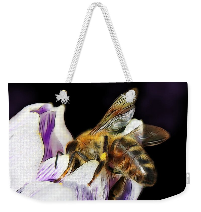Spring Weekender Tote Bag featuring the photograph Springtime Visitor by Jutta Maria Pusl