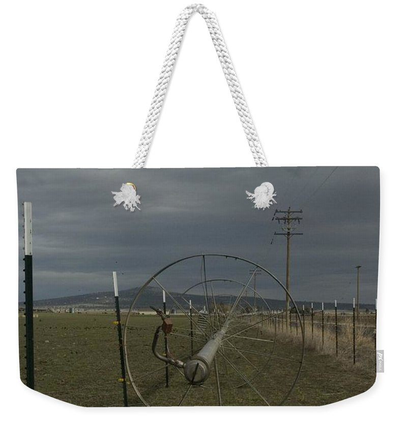 Irrigation Weekender Tote Bag featuring the photograph Sprinkler 2 by Sara Stevenson