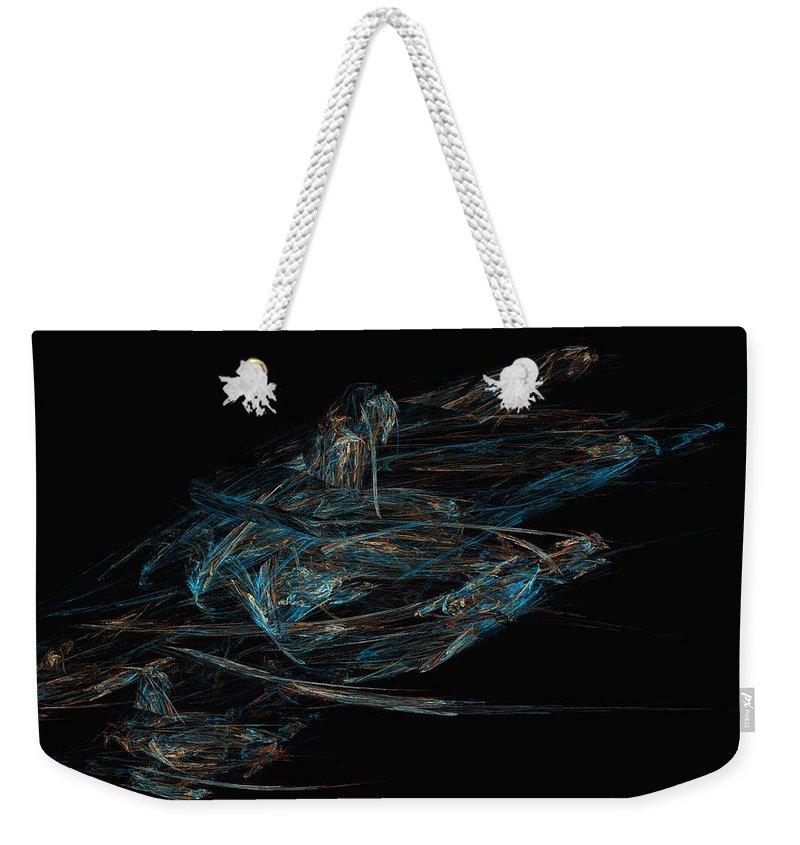 Abstract Digital Painting Weekender Tote Bag featuring the digital art Sprint by David Lane