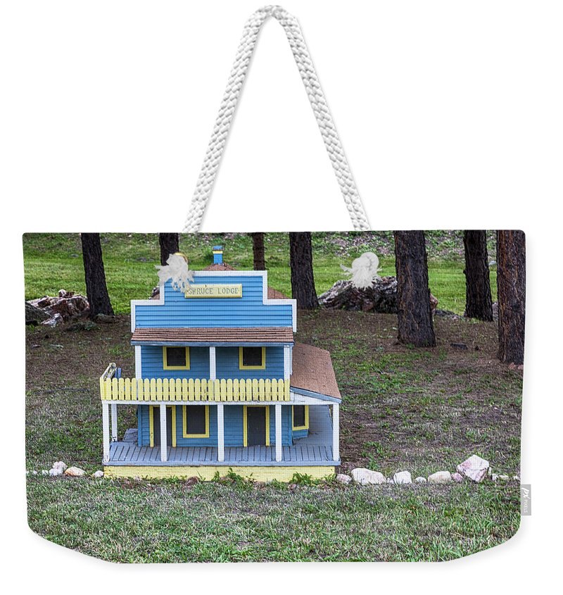 Tiny Town Weekender Tote Bag featuring the photograph Spruce Lodge by Lorraine Baum