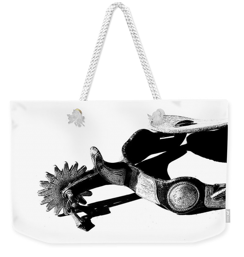 Spur Weekender Tote Bag featuring the photograph Spur 1 by Tina Meador