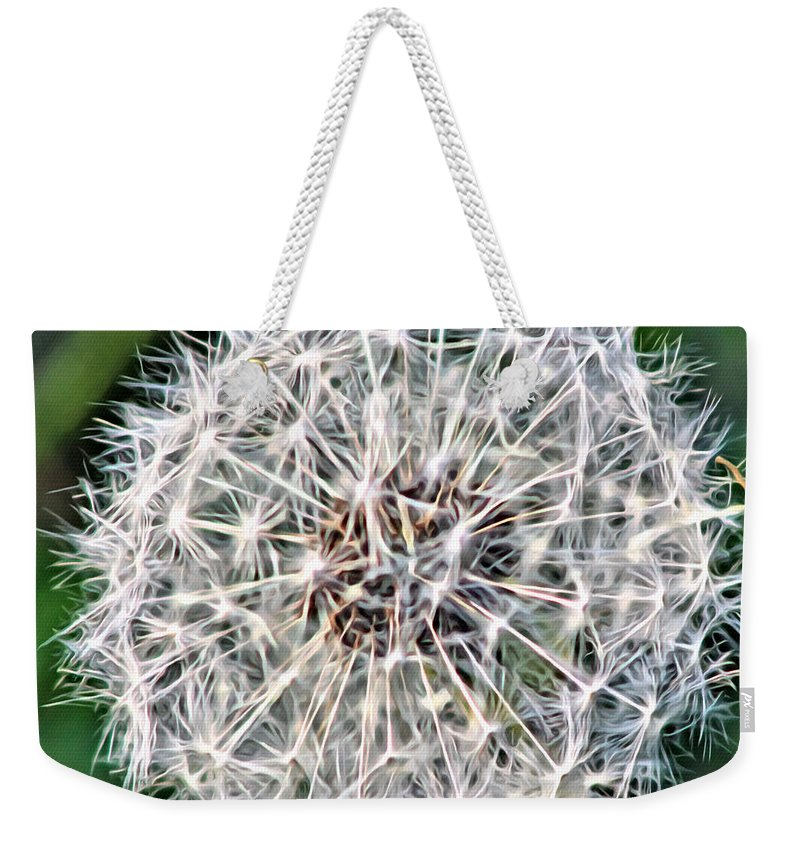 Flower Weekender Tote Bag featuring the photograph Square Dandelion 2 by Modern Art