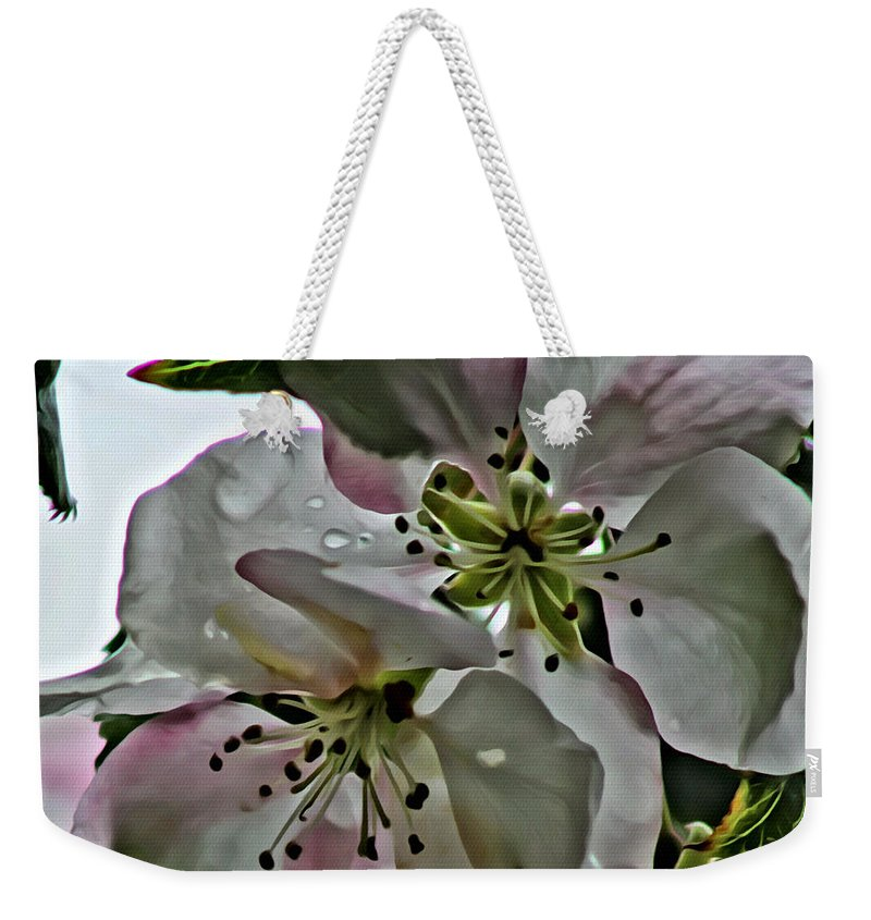 Flower Weekender Tote Bag featuring the photograph Square Dogwood by Modern Art
