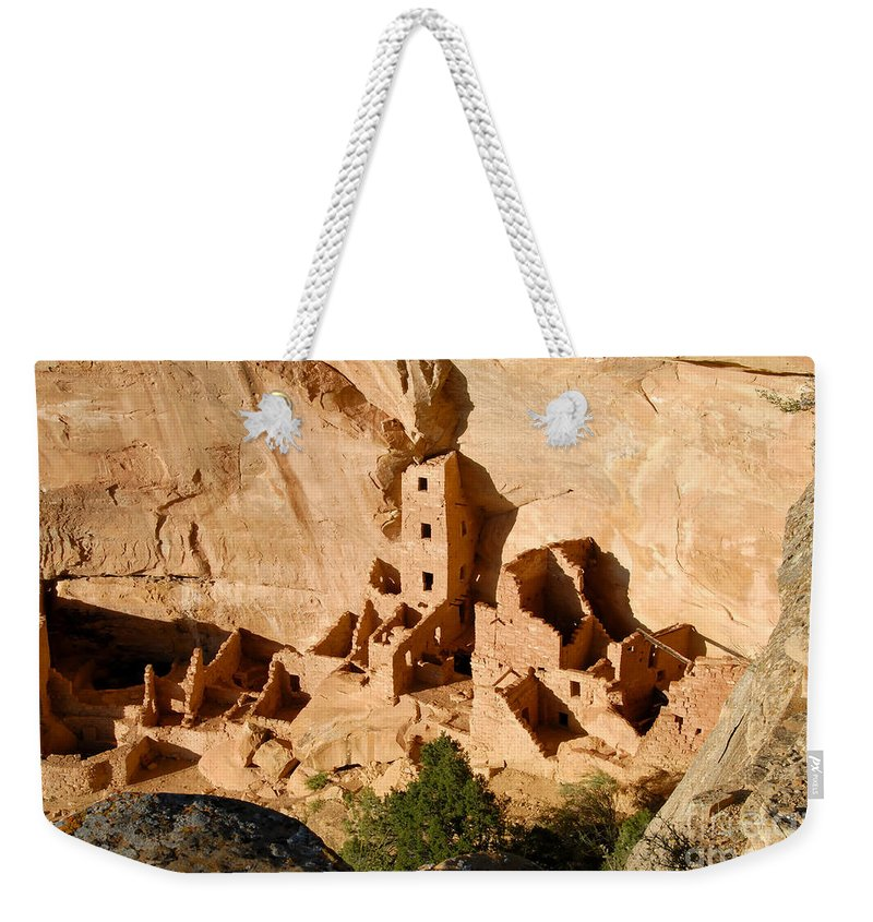 Square Tower Weekender Tote Bag featuring the photograph Square Tower Ruin by David Lee Thompson