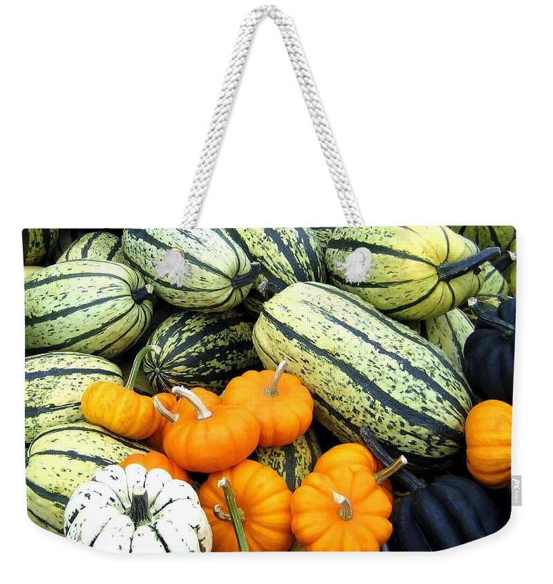 Squash Weekender Tote Bag featuring the photograph Squash Harvest by Will Borden
