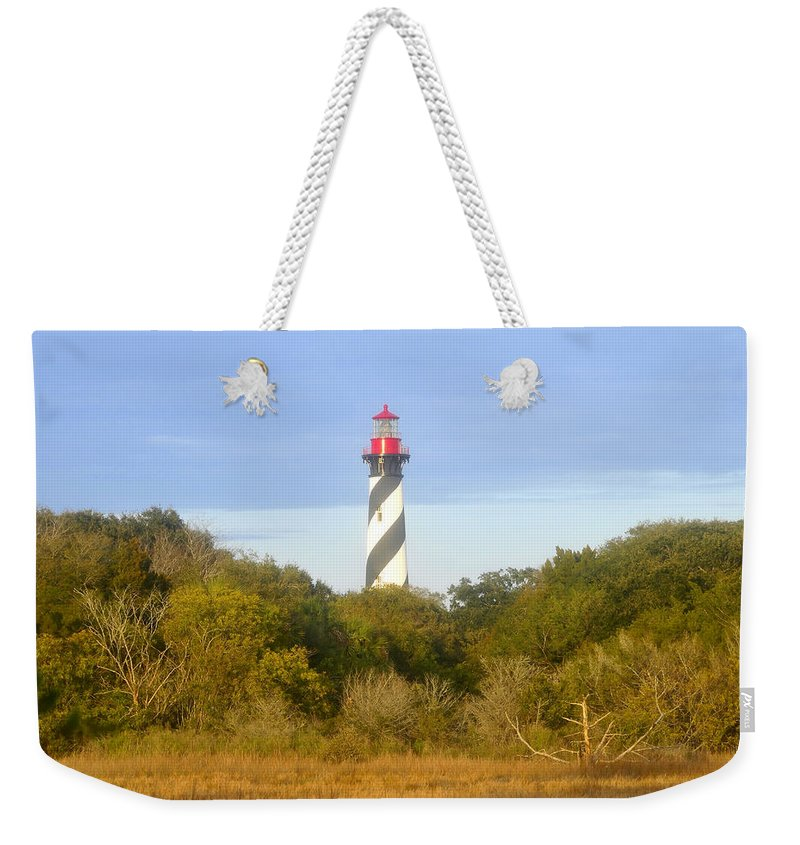 St. Augustine Florida Weekender Tote Bag featuring the photograph St. Augustine Light House by David Lee Thompson