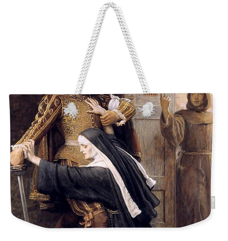 Sir John Everett Millais Weekender Tote Bag featuring the painting St Bartholomew by Sir John Everett Millais