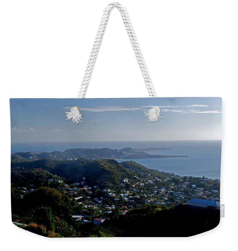 Sunset Weekender Tote Bag featuring the photograph St. George's Grenada by Gary Wonning