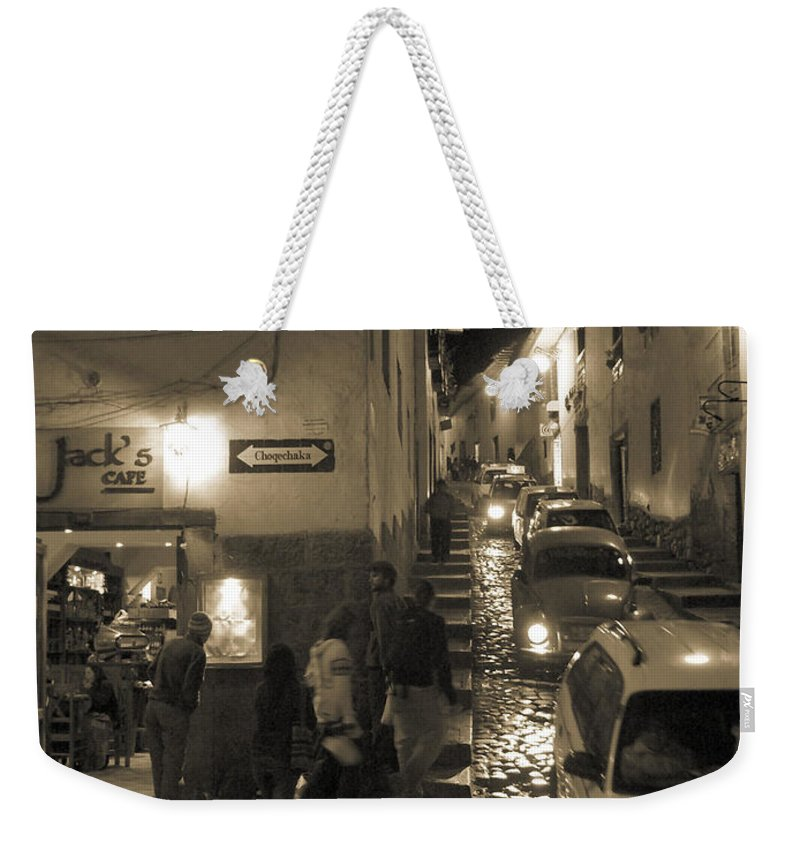 Jack's Cafe Weekender Tote Bag featuring the photograph Jack's Cafe by Sonal Dave