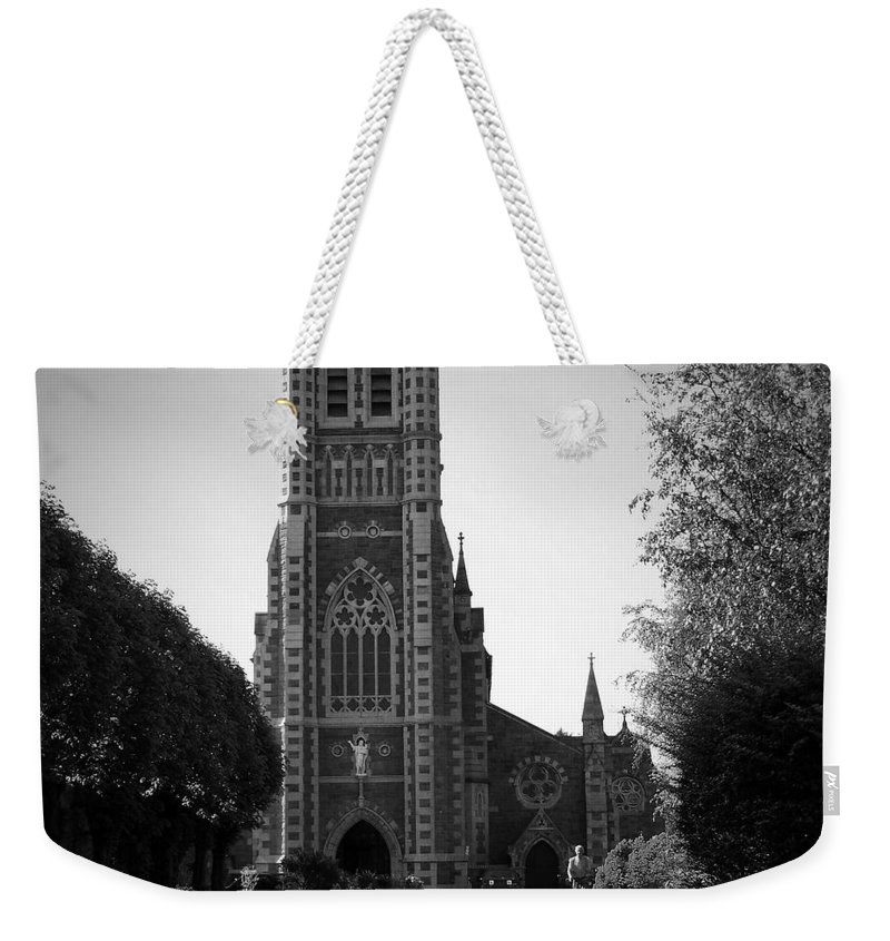 Irish Weekender Tote Bag featuring the photograph St. John's Church Tralee Ireland by Teresa Mucha