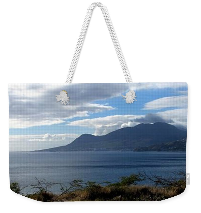 St Kitts Weekender Tote Bag featuring the photograph St Kitts Vista by Ian MacDonald