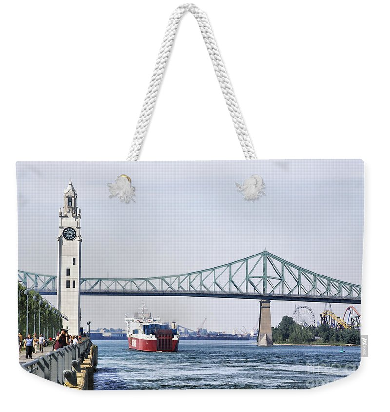 Weekender Tote Bag featuring the photograph St Lawrence And Laronde by Deborah Benoit