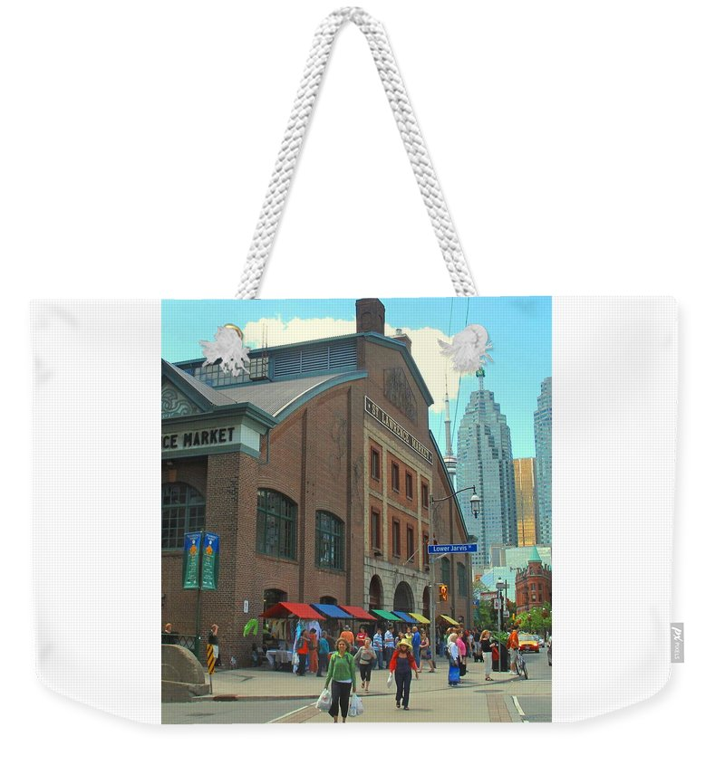 Market Weekender Tote Bag featuring the photograph St Lawrence Market by Ian MacDonald