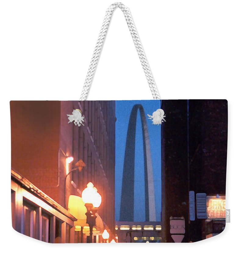 St. Louis Weekender Tote Bag featuring the photograph St. Louis Arch by Steve Karol