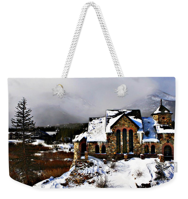 Church Weekender Tote Bag featuring the photograph St. Malo Chapel by Marilyn Hunt