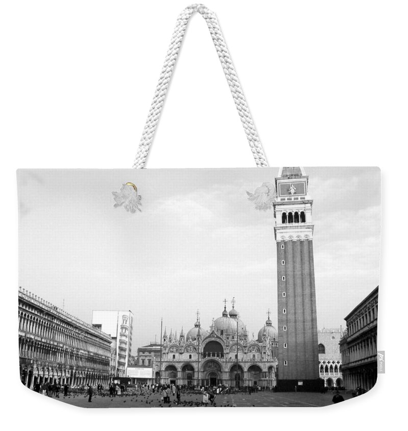 Venice Weekender Tote Bag featuring the photograph St. Mark's Square by Donna Corless
